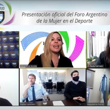 Se presentó el Foro Argentino de la Mujer en el Deporte