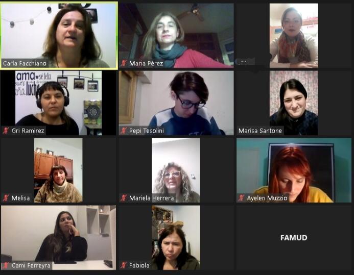 Reunión entre FAMUD-CAD con el Departamento de Género Rosario Central